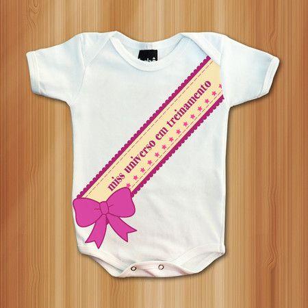 Body Miss Em Treinamento - Roupas De Bebês Divertidas e Engraçadas