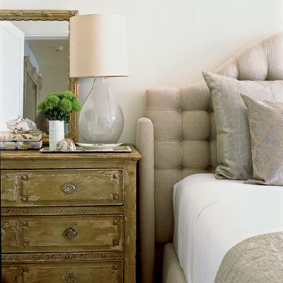 Neutral: Rustic Bedrooms, Idea, Interiors Design, Master Bedrooms, Bedside Tables, Upholstered Headboards, Guest Rooms, Neutral Bedrooms, Chest Of Drawers
