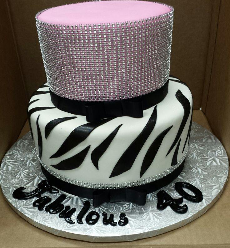 Calumet Bakery Rhinestone Glam Pink Fondant Cake