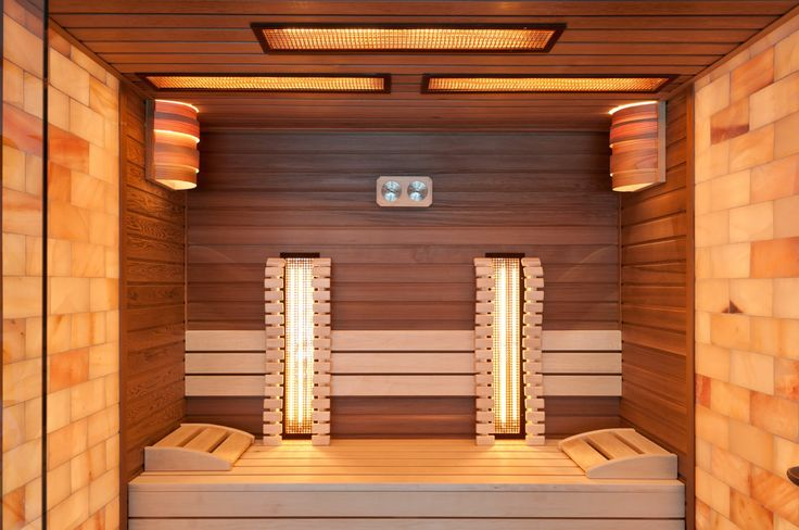 The deep brown colour of the Canadian red cedar and the Finnish Aspen tree's light tone gives this combined sauna an unparalleled uniqueness.