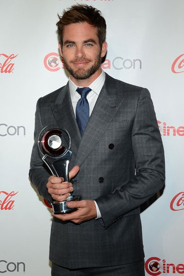 Chris Pine received the male star of the year award at the CinemaCon Awards in Las Vegas