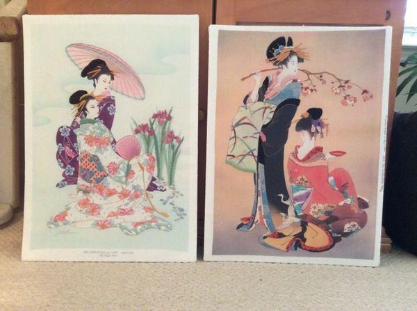 Asian Tapestry Artwork