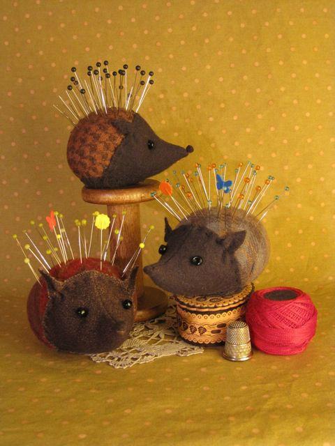 To Make Pin Cushions Patterns | Henrietta Hedgehog Pincushion – with Lynn Stiglich