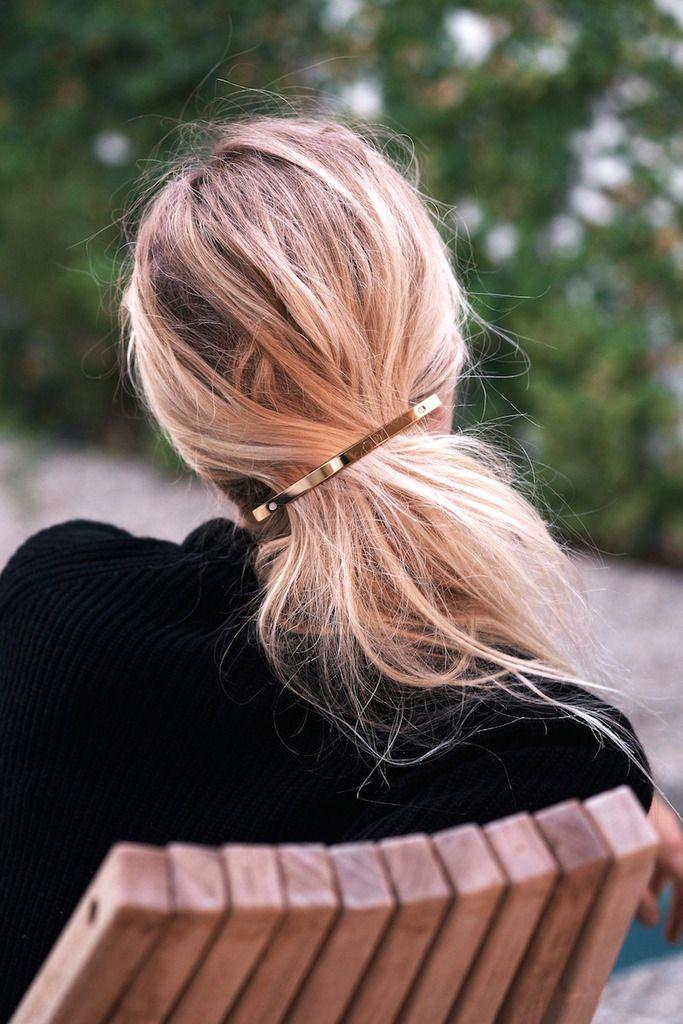 Hair Must-Have: The Gold Barrette   Le Fashion   Bloglovin'
