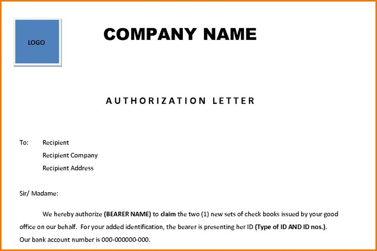 authorization letter sample act behalf pdf