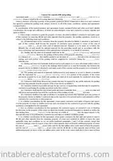 Free Contract for Removal of Fill and Grading Printable Real Estate Document