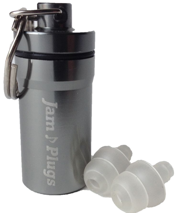 Musicians Earplugs: JamPlugs 19 dB SNR Transparent Reusable Hearing Protection for Musicians, Concerts, DJ's