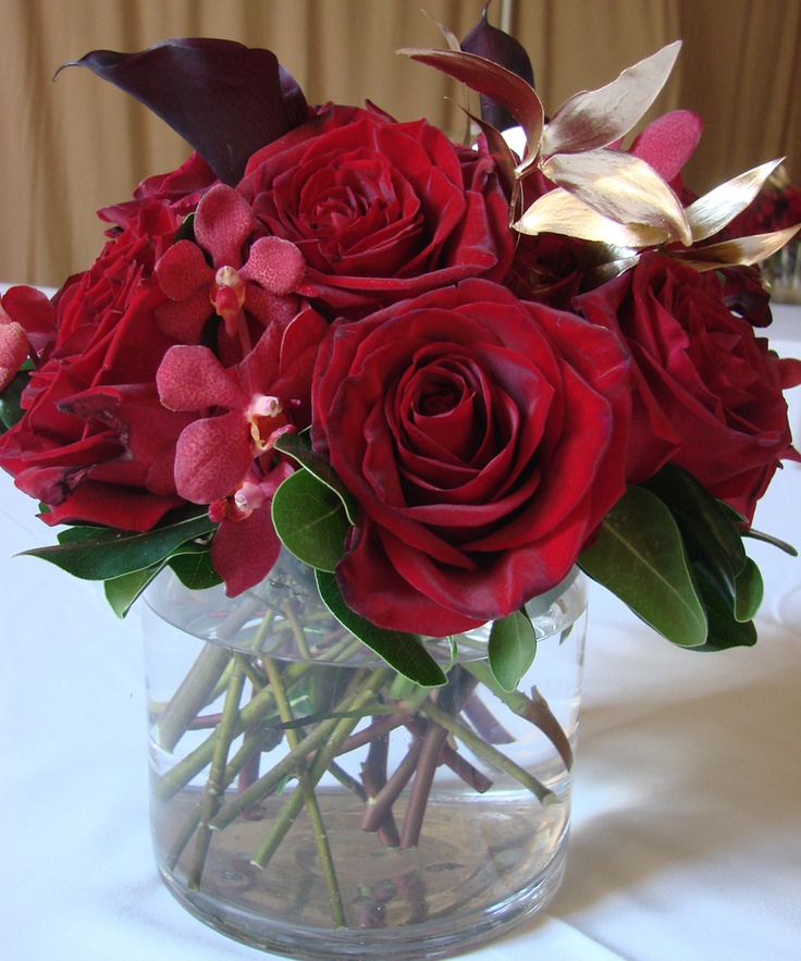 Best images about cream and crimson centerpieces on