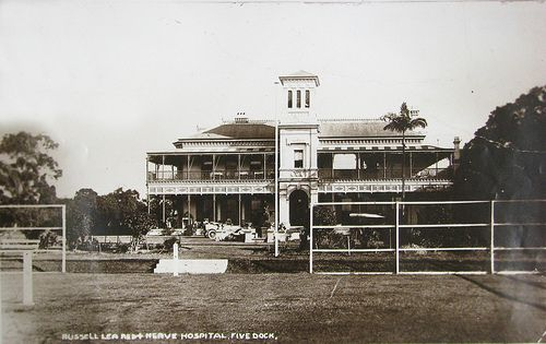 Russell Lea Manor (also known as Russell Lea House), the home of Russell Barton, was situated north of Lyons Road between Sibbick Street and Lyons Road, Five Dock, Sydney. The house was built between 1878 and 1882. In the early 1920s it was used by the Red Cross as a Nerve Hospital. Russell Lea Manor was demolished in 1925.