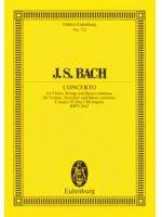 BACH J.S. - CONCERTO BWV 1042 E MAJEUR - € 11,00 Viool klassiek, Zakpartituur, EULENBURG ETP