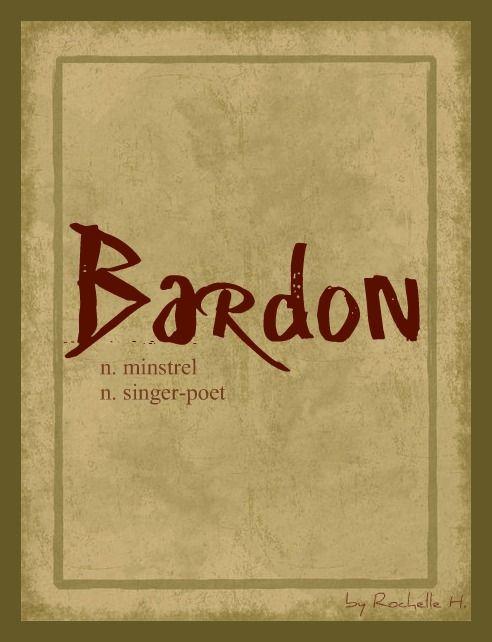 Baby Boy Name: Bardon. Meaning: Minstrel; A Singer-Poet. Origin: Celtic; Irish. http://www.pinterest.com/vintagedaydream/baby-names/