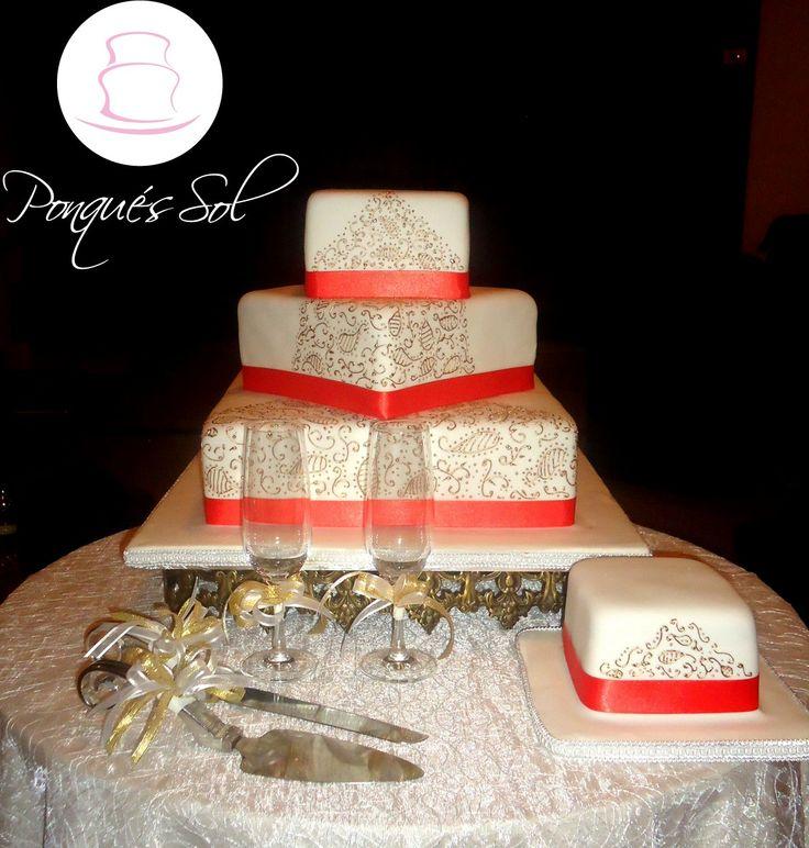Ponqué/ Torta de Matrimonio  Wedding cake