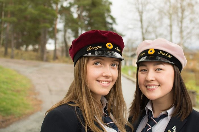 Robina Palm, Sofia Hansson. Students at Sigtunaskolan Humanistiska Läroverket. April 2016. Photo: Jon Buscall