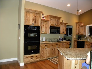 Scott River Custom Cabinets: Rustic Hickory Cabinets-Shaker Style Doors