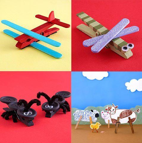animales con ganchos y botones!!