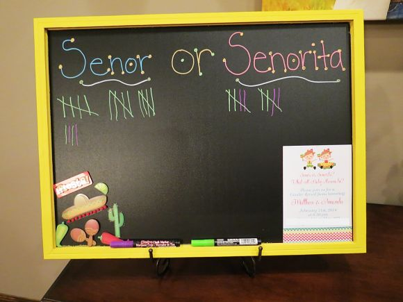 Fiesta Gender Reveal Party | Gender Reveal Ideas | Surprise Gender Reveal | Senor or Senorita Chalkboard