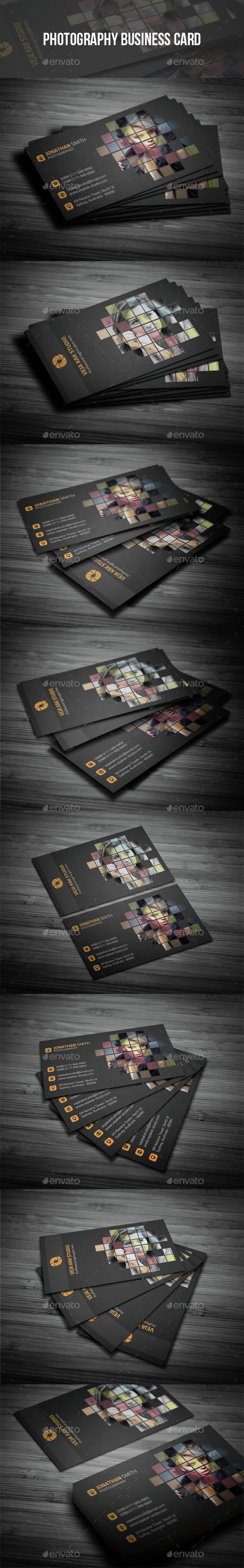 Photography Business Card - Creative Business Card Template PSD. Download here: http://graphicriver.net/item/photography-business-card/11942535?s_rank=1772&ref=yinkira