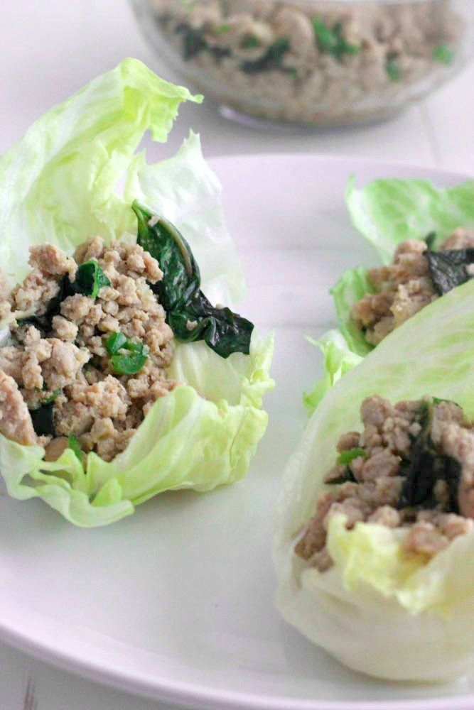 Basil Chicken Lettuce Wraps | Recipe | Thai basil, Wraps and Chicken ...