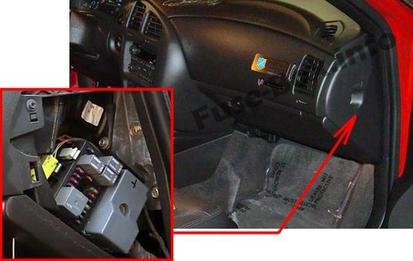 Chevrolet Monte Carlo (2000-2005) < Fuse Box location on circuit breaker box layout, display box layout, panel box layout, control box layout, battery box layout,