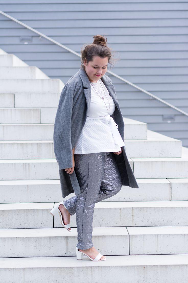 Pailletten Hose in silber – ein Mädchentraum