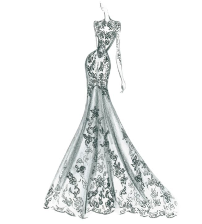Sketches Of Wedding Gowns: 375 Best Wedding Gown Sketches Images On Pinterest
