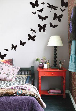 Muurstickers vlinders #kinderkamer | Wall stickers butterflies #kidsroom