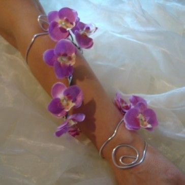 Lilac Orchid Arm Corsage