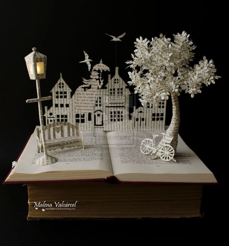 Mary Poppins Book Sculpture by MalenaValcarcel.