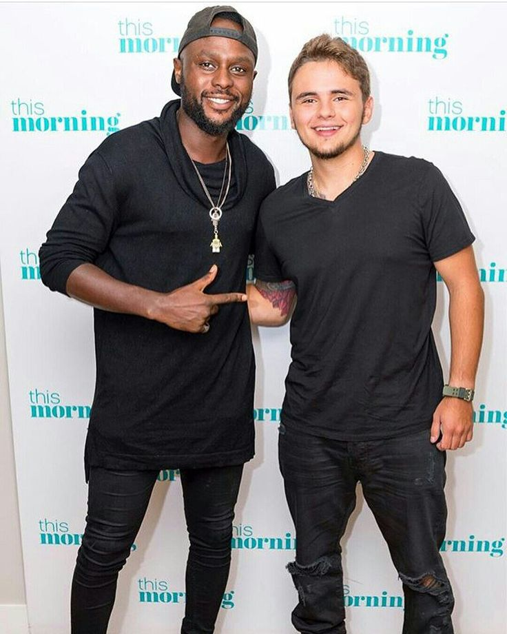 """Prince Jackson on the set of """"This Morning"""" a TV show in London, England."""