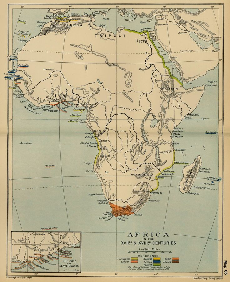 Map of Africa in the 17th and 18th Centuries
