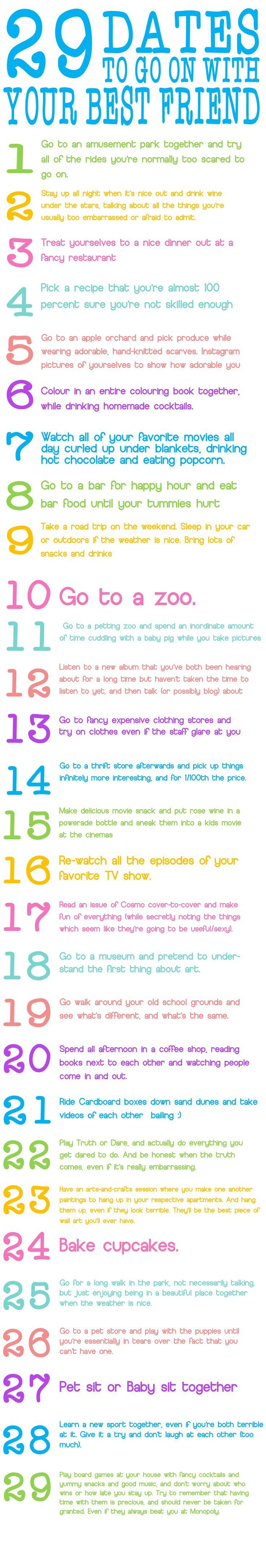 29 dates with your best friend HEY CATHERINE THIS IS FOR US!!! (Best Friend)