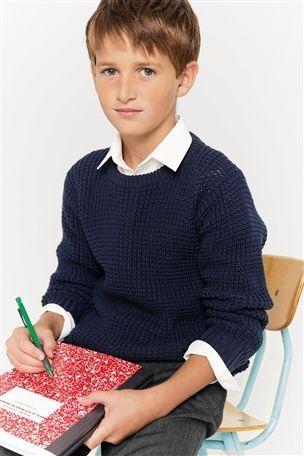 Navy Chunky Knit Sweater (3-16yrs), next
