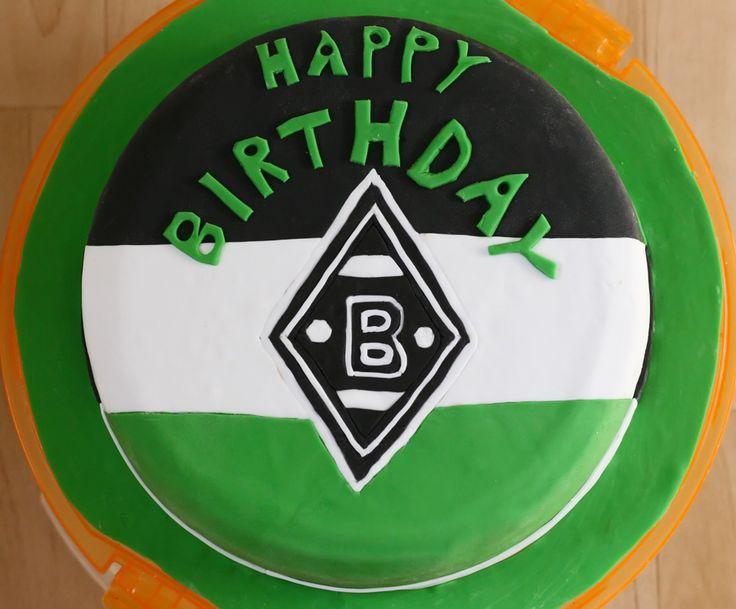 Borussia Mönchengladbach Fondant-Torte