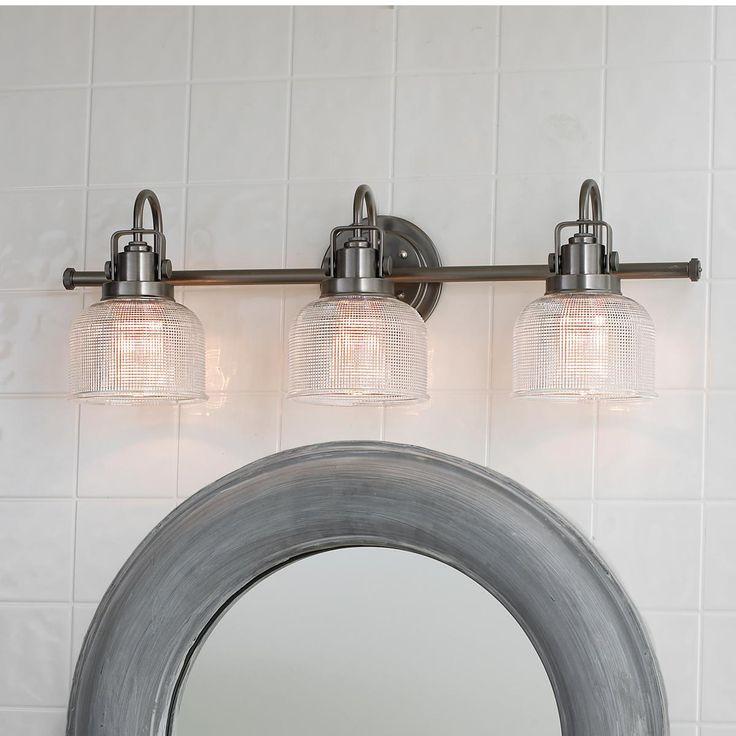 Fresnel Glass Restoration Bath Light - 3 Light