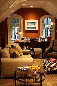 'earthtones': Warm Color, Home Office, Wall Color, Living Room, Bonus Room, Attic Room