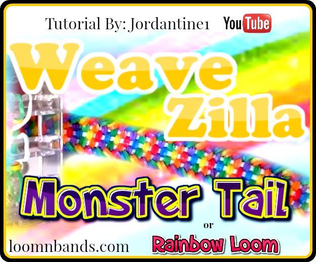 Monster Tail Loom bracelets Weavzilla Instructions By Jordatine1