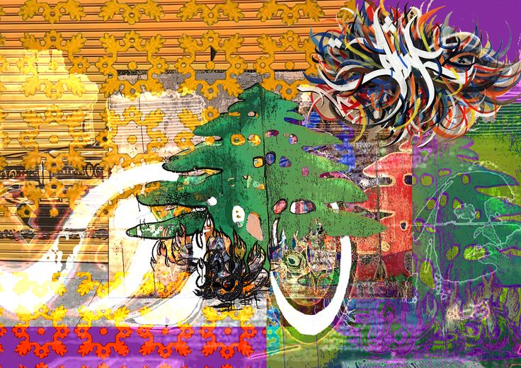Chaotic Lebanon. Digital art collage by Yasmine Dabbous.