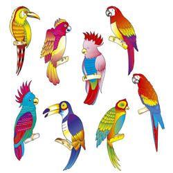 Decoratie Tropische vogels   Hawaishop