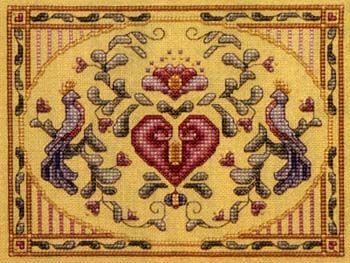 teresa wentzler cross stitch designs | Teresa Wentzler - Pennsylvania Dutch Heart