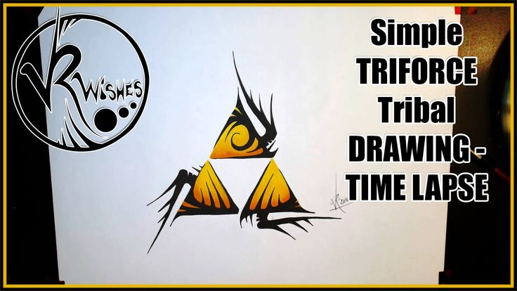 Simple TRIFORCE tribal drawing - TIME LAPSE