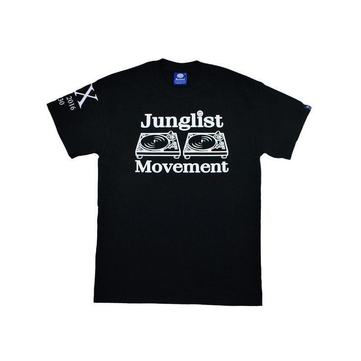 Junglist Movement Exclusive 20 Year Anniversary Tee ( Glow In The Dark Print )