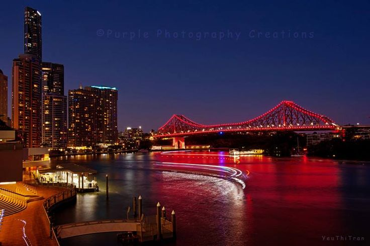 ©Yeu Thi Tran Brisbane Story Bridge turns maroon again tonight.. supporting the Maroons for State Of Origin decider game.. https://www.facebook.com/pages/Purple-Photography-Creations/148743085221883