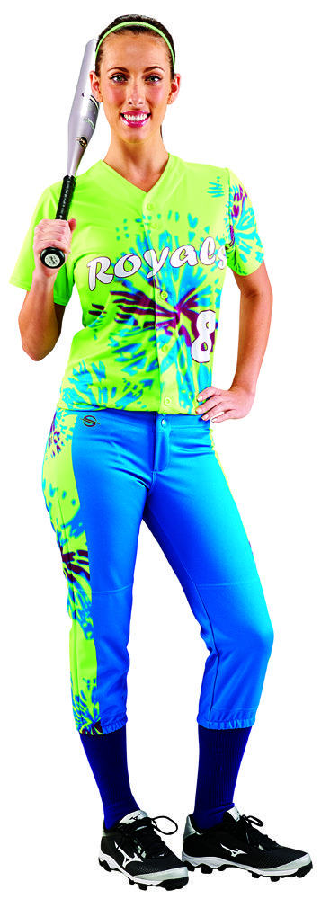 Tie Dye ProSphere fully sublimated full button down Softball jersey