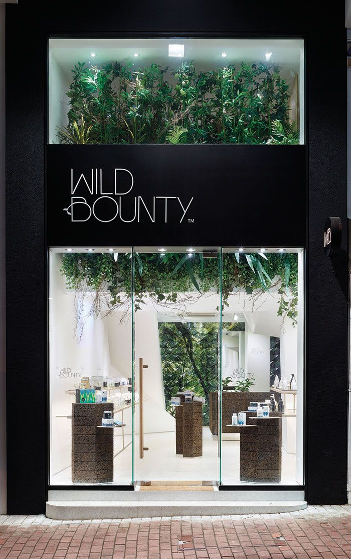 bounty retail facade shop facade store front design packaging design