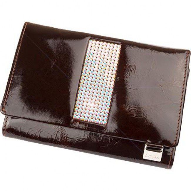 Malá dámská peněženka GIOVANI - CV-130 Hnědá