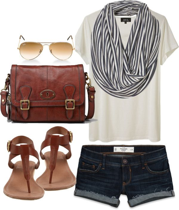 love the striped scarf with this outfit - and it all looks so comfy!