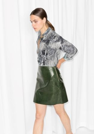 & Other Stories | Sheen Reptile Skirt