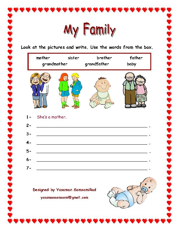 My Family Tree Worksheet For Grade 1 - picture dictionary online for ...