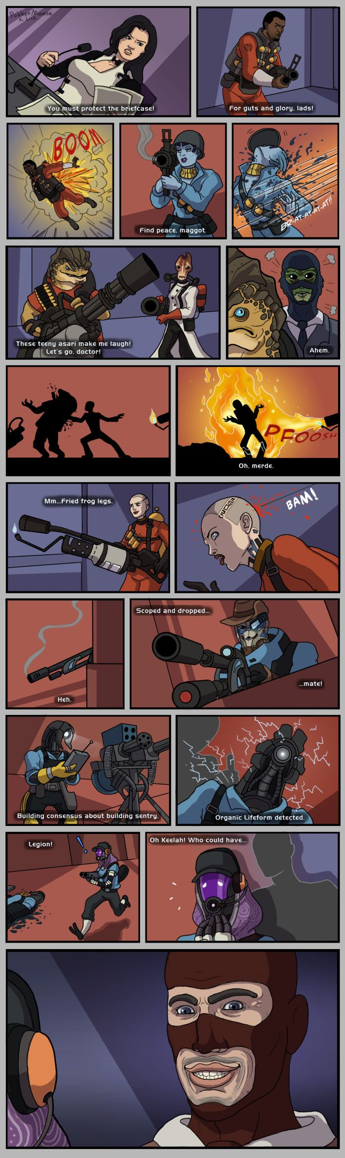 When Mass Effect meets TF2 #games #teamfortress2 #steam #tf2 #SteamNewRelease #gaming #Valve