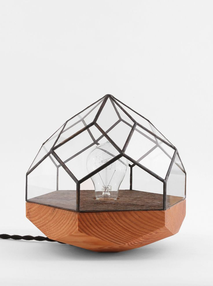 Wood Base Geometric Lamps by Score + Solder